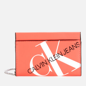 Calvin Klein Jeans Women's Logo Chain Cardcase Cross Body Bag - Island Punch