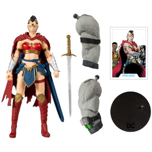 """McFarlane Toys DC Build-A 7"""" Figures Wv3 - Last Knight On Earth - Wonder Woman Action Figure"""