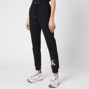 Calvin Klein Jeans Women's Monogram Jog Pants - Ck Black