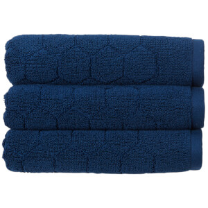 Christy Honeycomb Bath Towel - Set of 2 - Navy