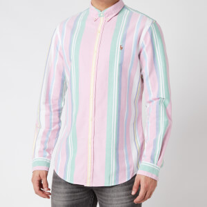 Polo Ralph Lauren Men's Slim Fit Oxford Shirt - Pink/Green Multi