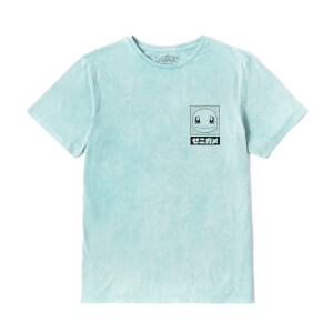T-Shirt Pokémon Squirtle - Menta Acid Wash - Unisex