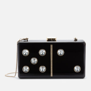 Kate Spade New York Women's Roll Domino Clutch - Black Multi