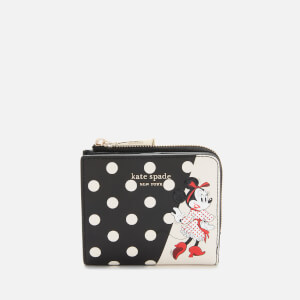 Kate Spade New York Women's Minnie Mouse Small Bifold Wallet - Black Multi