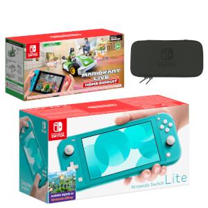 Nintendo Switch Lite (Turquoise) Mario Kart Live: Home Circuit - Luigi Set Pack