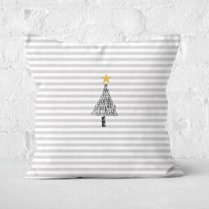 Stripe Christmas Tree Square Cushion