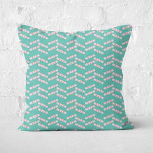 Cracker Stripes Square Cushion