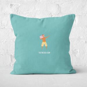 Tis The Sea Sun Music Square Cushion