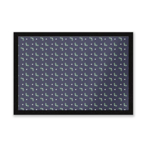 Mistletoe Pattern Entrance Mat
