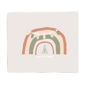 Christmas Rainbow Cream Fleece Blanket
