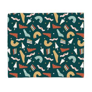 Christmas Abstract Pattern Fleece Blanket