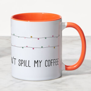 Be Jolly But Don't Spill My Coffee Mug - White/Orange