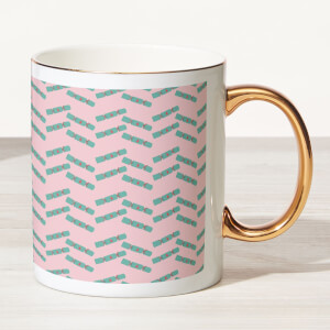 Cracker Bone China Gold Handle Mug