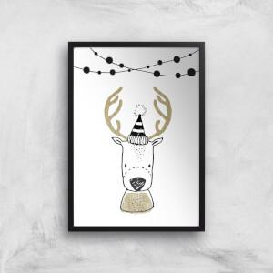 Cute Reindeer Giclee Art Print