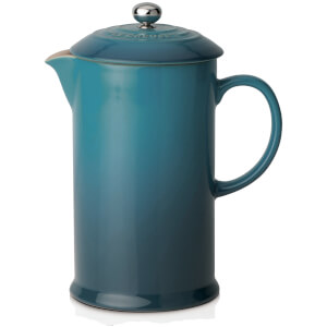 Le Creuset Stoneware Cafetiere Coffee Press - Deep Teal