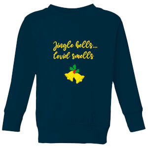 Jingle Bells Covid Smells Kids' Sweatshirt - Navy