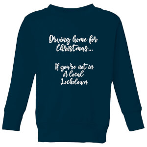 Driving Home For Christmas Kids' Sweatshirt - Navy