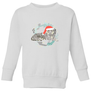 Snow Tiger Kids' Sweatshirt - White