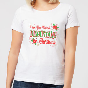 Hope You Have A Disgustang Christmas Festive Women's T-Shirt - White