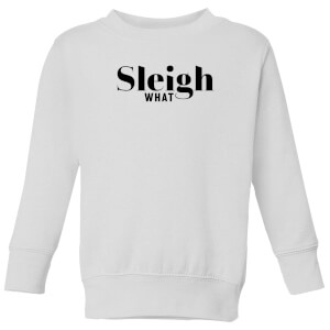 Sleigh What Kids' Sweatshirt - White