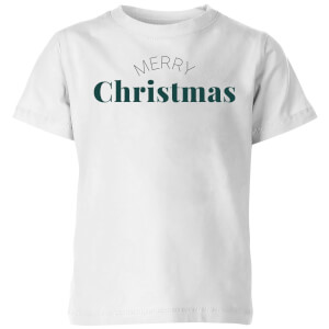 Merry Christmas Kids' T-Shirt - White