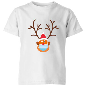 Covid Rudolph Kids' T-Shirt - White