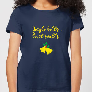 Jingle Bells Covid Smells Women's T-Shirt - Navy
