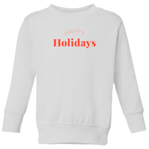 Happy Holidays Kids' Sweatshirt - White