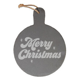 Merry Christmas Engraved Slate Cheese Board
