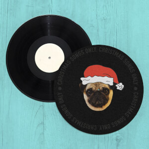 Christmas Songs Only Pug Slip Mat