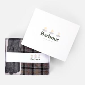 Barbour Men's Tartan Scarf and Gloves Gift Set - Modern/Grey