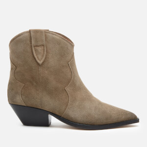 Isabel Marant Women's Dewina Suede Heeled Ankle Boots - Taupe