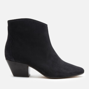 Isabel Marant Women's Dacken Suede Heeled Ankle Boots - Faded Black