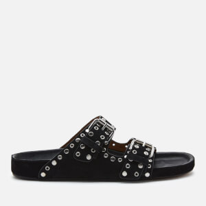 Isabel Marant Women's Lennyo Suede Double Strap Sandals - Black