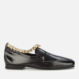 by FAR Women's Nick Semi Patent Leather Loafers - Black