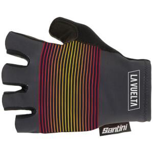 Santini La Vuelta 2020 Kilometre Cero Gloves