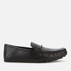 Coach Men's Collapsible Heel Leather Driving Shoes - Black