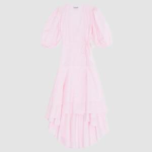 Ganni Women's Printed Cotton Poplin Dress - Cherry Blossom