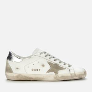 Golden Goose Deluxe Brand Men's Superstar Leather Trainers - White/Ice/Silver