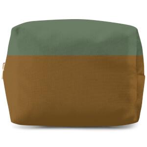Split Colour Brown Wash Bag