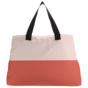 Colour Split Red Large Tote Bag