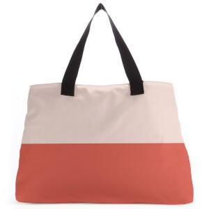 Colour Split Red Large Tote Bag