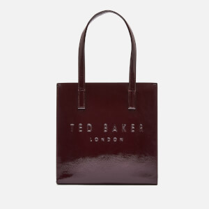 Ted Baker Women's Alicon Crinkle Patent Embossed Small Icon Tote Bag - Deep Purple