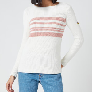 Barbour International Women's Downforce Knitted Jumper - Off White