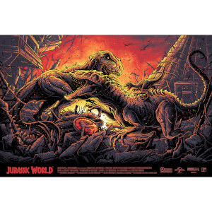 Jurassic World Screenprint by Dan Mumford Variant