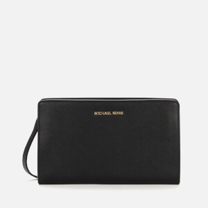 MICHAEL MICHAEL KORS Women's Jet Set Travel Large Cross Body Clutch Bag - Black