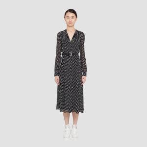 MICHAEL MICHAEL KORS Women's Circle Logo Shirt Dress - Black/White