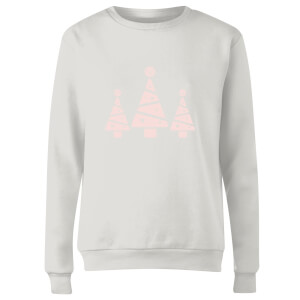 GLOSSYBOX Glossy Trees Women's Christmas Jumper - White