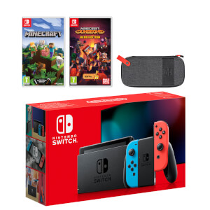Nintendo Switch (Neon Blue/Neon Red) Minecraft Double Pack