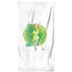 Rick and Morty Portal Bath Towel